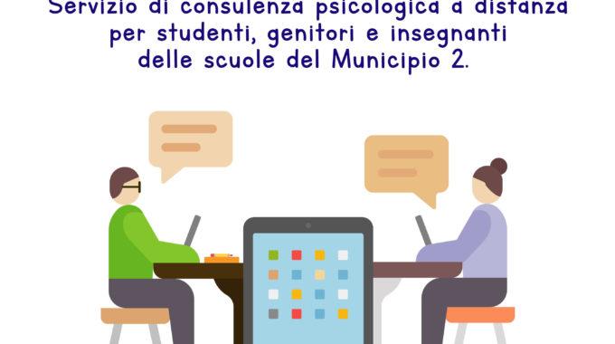 PsyHub –Servizio Di Consulenza Psicologica A Distanza Per Le Scuole Del Municipio II